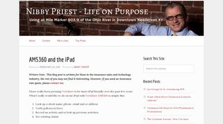 AMS360 and the iPad | Nibby Priest -Life On Purpose