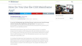 apps.csx.com at WI. CSX Access Gateway - Website Informer