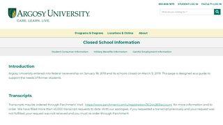 Argosy University Log in