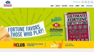 Arkansas Scholarship Lottery: Home