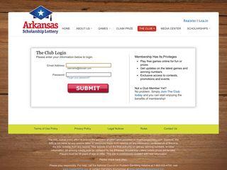 Arkansas Scholarship Lottery :: Login