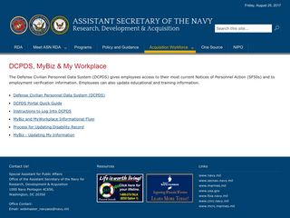 Assistant Secretary of the Navy Research, Development & Acquisition