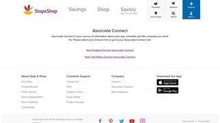 associate connect - Stop and Shop