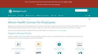 Atrium Health Connect for Employees   Atrium Health