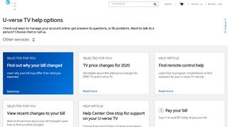 AT&T U-verse TV - Customer Support, Live Chat, and Contact ...