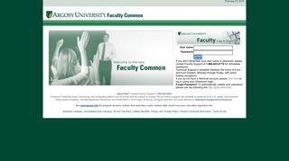 AUO Faculty Login Portlet - Argosy University