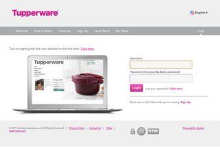 Back Office Login - MyTupperware.com