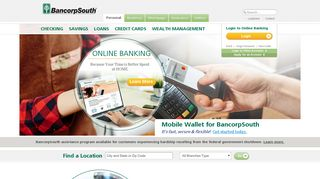 BancorpSouth: Banking, Checking, Credit Cards, and Mortgage
