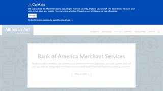 Bank of America Merchant Services - Authorize.Net