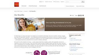 Benefits - Wells Fargo Careers