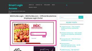 BGCForMe   Smart Login Access