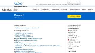 Blackboard Support | UMKC Online
