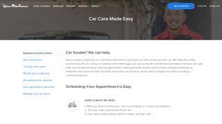 Book a Mobile Mechanic Online | YourMechanic