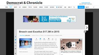 Breach cost Excellus $17.3M in 2015 - Democrat and Chronicle