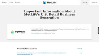 Brighthouse Financial - MetLife