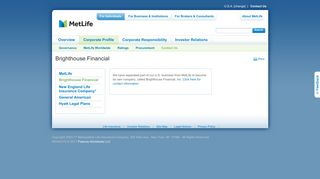 Brighthouse Life Insurance Company - MetLife