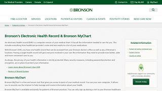 Bronson's Electronic Health Record & Bronson MyChart - Bronson ...
