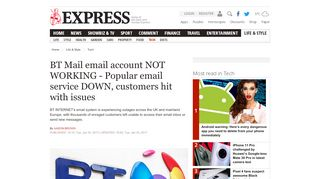 BT Mail email account NOT WORKING - Popular email service ...