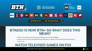 BTN2Go is now BTN+ so what does this mean? - Big Ten ...