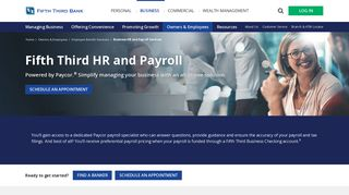 Business HR and Payroll Services   Fifth Third Bank
