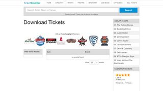 Buy Download Tickets, Seating Charts for Events   TicketSmarter