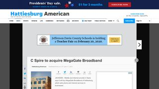 C Spire to acquire MegaGate Broadband - Hattiesburg American