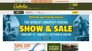 Cabela's Official Website - Hunting, Fishing, Camping ...
