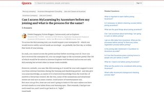 Can I access MyLearning by Accenture before my joining and what is ...
