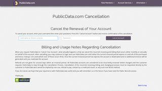 Cancellation - PublicData.com