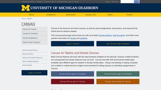 Canvas - University of Michigan-Dearborn