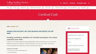 Cardinal Cash | SUNY Plattsburgh CAS