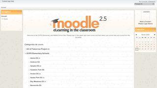 Catégories de cours - OCPS Moodle Elementary & Middle