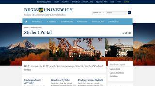 CCLS Student Portal - Regis University