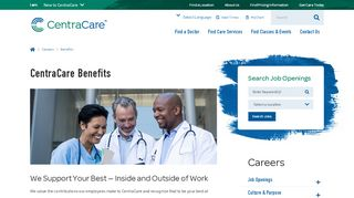 CentraCare Health Employee Benefits | CentraCare, Central ...