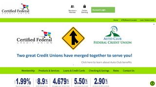 Certified Federal Credit Union   Just like a bank, only better.