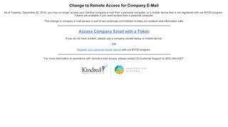 Change to Remote Access for Company E-Mail - Gentiva
