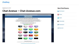 Chat Avenue - Chat-Avenue.com - ChatEasy