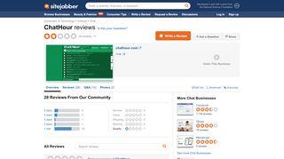 ChatHour Reviews - 20 Reviews of Chathour.com | Sitejabber