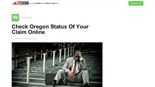 Check Oregon Status Of Your Claim Online - In NewsWeekly