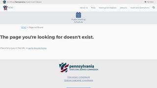Civil Service Application - SCSC - PA.gov