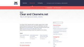 Clear and Clearwire.net | Word to the Wise