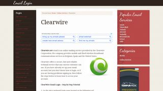 Clearwire Email Login – www.Clearwire.net Webmail Sign In ...