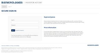 Client Login - investor access - Raymond James Investment Services