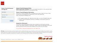 Concur Travel & Expense CTE Login - Wells Fargo