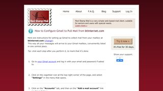 Configure Gmail to Pull Mail from btinternet.com   Red Stamp Mail