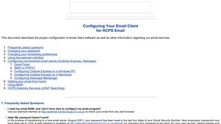 Configuring Your Email