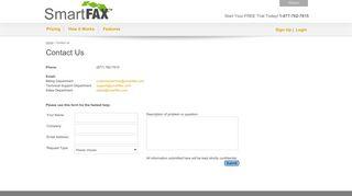 Contact SmartFax, Customer Service, Technical, Billing ...