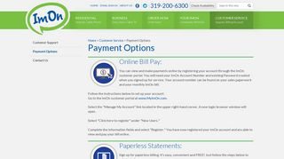 Convenient Payment Options for ImOn Communication ...