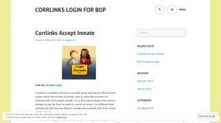Corrlinks Accept Inmate   Corrlinks Login for BOP