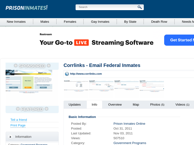 Corrlinks - Email Federal Inmates - PrisonInmates.com